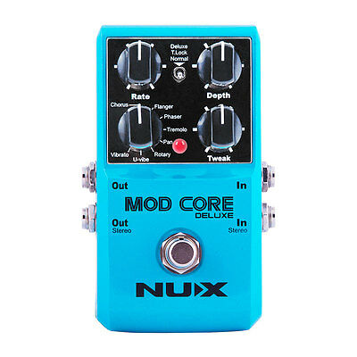 NUX Mod Core Deluxe Guitar Effect Pedal 8 Modulation Effects Preset Tone Lock