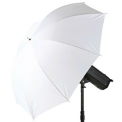 "33"" Photography Studio Translucent  Soft White Umbrella Diffuser Mount Holder UK"