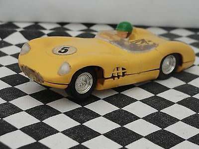 Scalextric 1960's Aston Martin Yellow  #5  C57   1.32  Used Unboxed