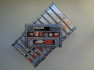 12 Audio Cassette Tape PHILIPS Ultra Ferro C60 From 1981 - New & Sealed
