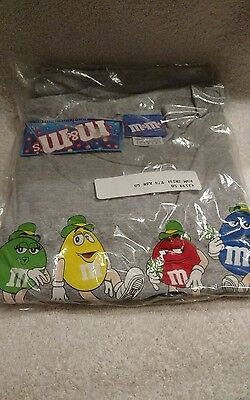 M&M's Irish T- Shirt Ash Grey Size Large