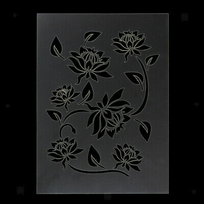 Reusable Wall Painting Stencil Bamboo Leaf Pattern Hollow Out Home Art Decor