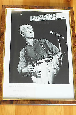 Rare David Bowie London Rocks Press Photo Brixton Community Conservation Framed