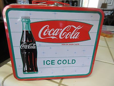 COCA-COLA TIN LUNCH BOX Ice Cold SIGN OF GOOD TASTE Vintage Style NEW Soda
