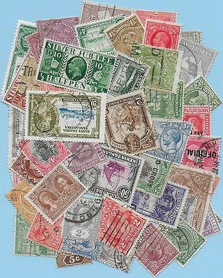 50  King George V Commonwealth Stamps All Different With Some G.b.