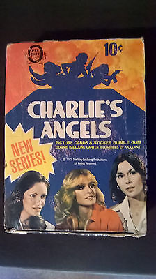 1977 charlies angels full wax pack box cards OPC rare series 2, unopened packs