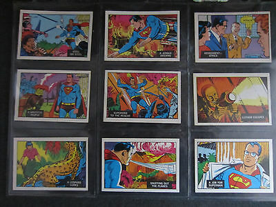 1968 superman in the jungle A&BC 66 card set complete, near mint