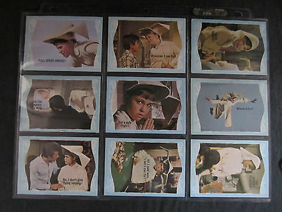 1968 complete card set of the flying nun 66 cards