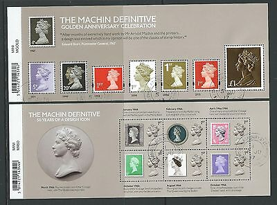 Great Britain 2017 The Machin Anniversary Pair Of Miniature Sheets Fine Used