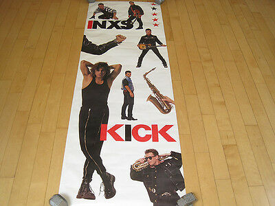 NOS!! 1987 vtg INXS band DOOR POSTER tour CONCERT MUSIC 80s michael hutchence