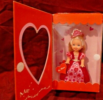 2001 My Little Valentine Little Kelly Doll, Blue Eyes Adorable Gown, Mint Nrfb