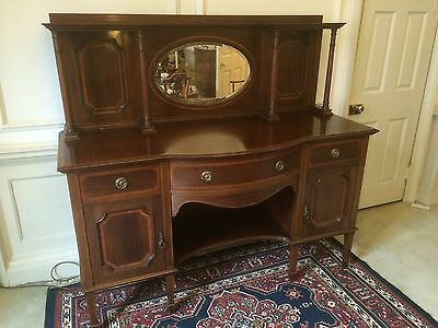 Edwardian Mahogany and Satin Wood Inlaid Sideboard - Magnificent