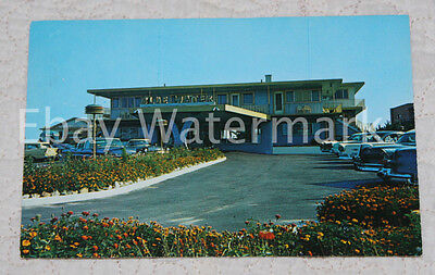 BASS RIVER MASSACHUSETTS MA Blue Water Restaurant Vintage Chrome Postcard