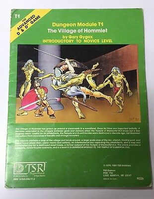 Advance Dungeons & Dragons THE VILLAGE OF HOMMLET 9026 T1 D&D AD&D