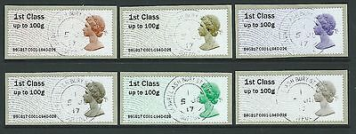 Great Britain 2017 The Machin Anniversary Post And Go Set Of 6  Fine Used