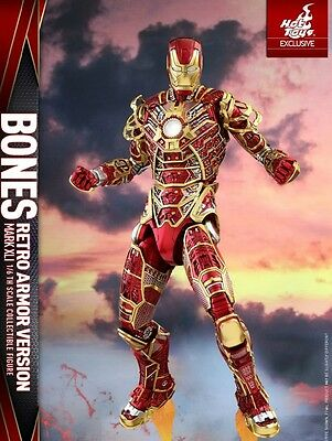 Iron Man Mark 41 Bones Retro Armor Version Hot Toys Exclusive Limited New