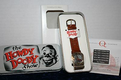 Valdawn The Howdy Doody Show Watch w Collectors Tin 1998 WORKS SJ 17G