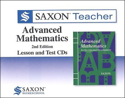 Saxon Math Advanced Math Teacher CD-Roms Video Supplement Homeschool Curriculum