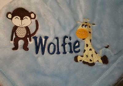 Embroidered Personalized Monogrammed Baby Blanket Stroller