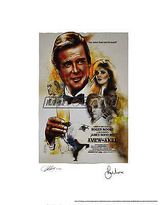 A View To A Kill - Ltd Ed Bond Lithograph - Signed by Moore & Artist! ROLLED