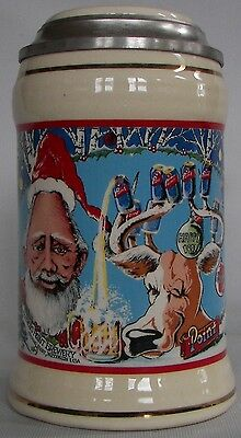 Stevens Point Brewery, Stevens Point, Wisconsin 1991 2nd Holiday Beer stein