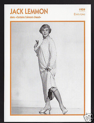 JACK LEMMON Some Like It Hot Actor Movie Star FRENCH ATLAS PHOTO BIO CARD