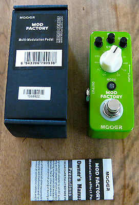 New Mooer Mod Factory Modulation Micro Effects Pedal