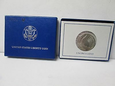 1986 US Statue of Liberty Uncirculated Half Dollar Commemorative Coin