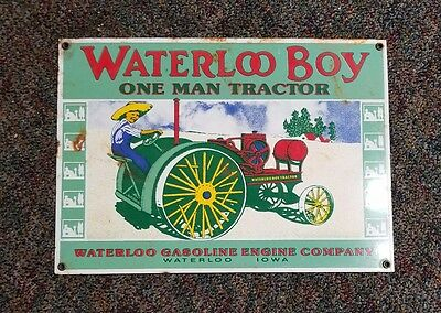 waterloo boy porcelain sign.
