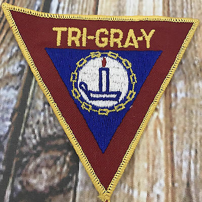 Vintage YMCA Tri Gra Y Triangle Patch w Candle