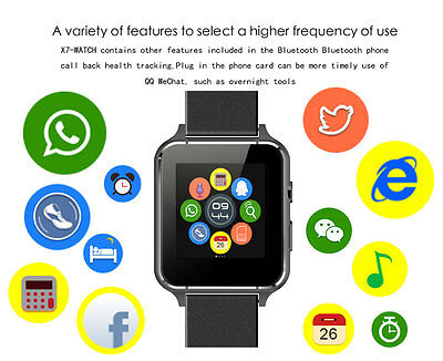 Bluetooth Smart Watch Phone Mate GSM SIM For Android iPhone Samsung HTC LG X7