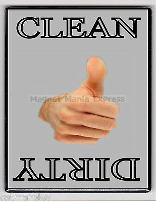 METAL DISHWASHER MAGNET Thumbs Up Gray Background Clean Dirty MAGNET X