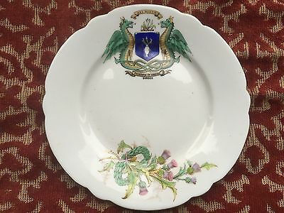shelley decorative dundee coat of arms sandwich plate