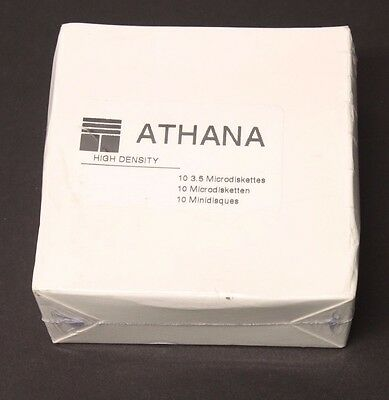 "10-Pack Athana 47-6701 Floppy Disk 3.5"" Double Sized High Density Diskettes"