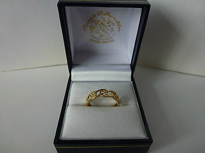 NEW, Ladies, 9carat 9ct Yellow Gold Celtic Eternity Ring, size N.