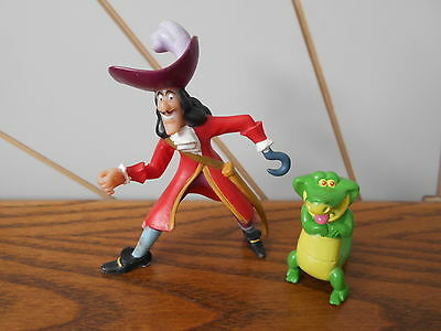 CAPTAIN HOOK and TIC TOC CROC character toy figures PETER PAN Disney Bullyland