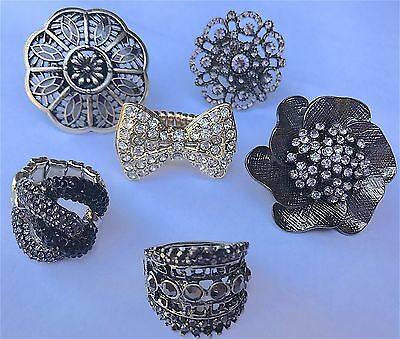 Stretch Band Rings stretchy one size 71 Pieces costume jewelry wholesale mix lot