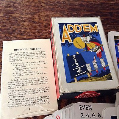 VINTAGE PLAYING CARD GAME - ADD'EM 'Great Graphics'