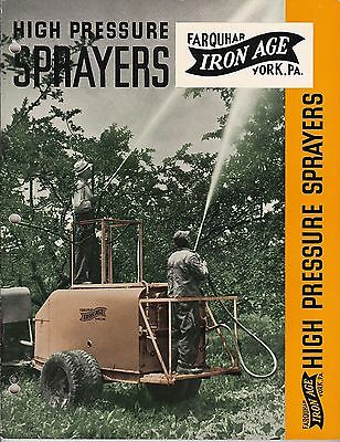 Farquhar Iron Age Orchard Row-Crop & Specialty Sprayers Book Catalog Wood Tanks