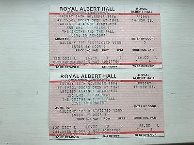 Very Rare The Smiths 2 x unused tickets for postponed gig