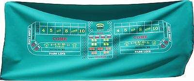 Casino Craps Layout - Golden Nugget 50th Anniversary  Las Vegas Nevada Wool Felt