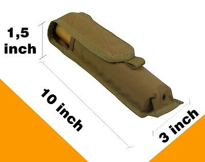 Russian Pouch Case molle flashlight smoke PAINTBALL airsoft bag coyote brown