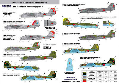 Foxbot - 72-002 - Decal for Tupolev SB: Stalin's speed bomber - 1:72 *** NEW ***