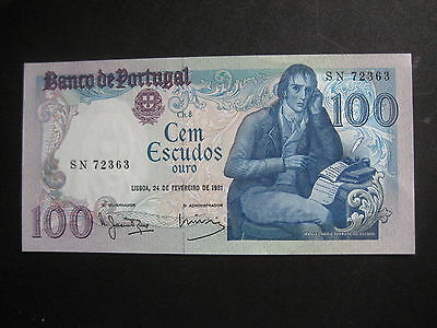 PORTUGAL 1980-89 ISSUE - 100 ESCUDOS - 24 February 1981 -  aUNCIRCULATED