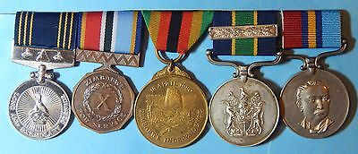 Zimbabwe Rhodesia Police Long And Exemplary Service Medal Group Inspector Ab0107