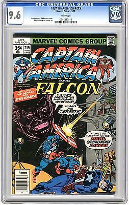 Captain America #219 CGC 9.6 NM+ white pages 3/78 Bucky Barnes (Flashback) App.