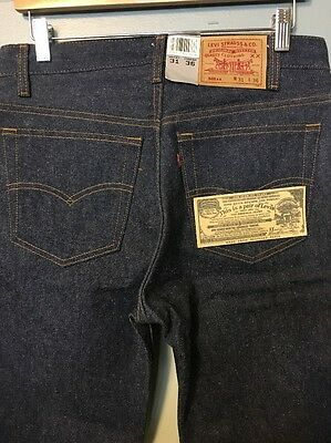 Vtg Levis 501 Blue Jeans NWT Deadstock 1980s Denim Pants 80s Unwashed Button USA
