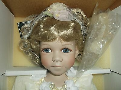 16-in Rebecca, porcelain angel doll by Geppeddo, new in box with COA