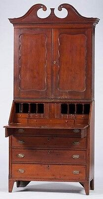 Federal Period Slant Top Desk and Bookcase