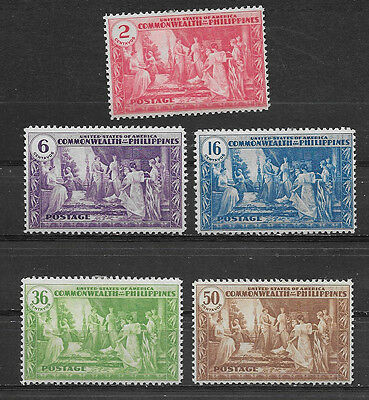 Philippines , Us , 1935 , Temples , Set.of 5 Perf, Mnh